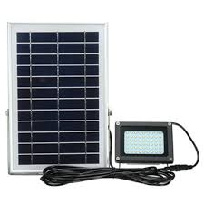 Solar Powered Automatic Lights Us 44 41 10 Off Outdoor Waterproof 54 Led Solar Power Modes 5m Cable Automatic Solar Powered Led Flood Lamp Security Light For Garden Yard Wall In