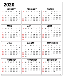 Printable Calendars For 2020 Free 2020 Printable Calendar Templates Editable Calendars 2020