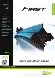 European Valeo First Wiper Blade Catalogue 2016 2017 953268