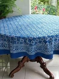 inch round tablecloth cotton batik blue and table cloth showcases an exquisite print 52 x 90