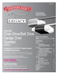 legacy 696cd b garage door opener owners manual docshare tips