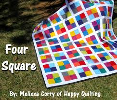 Happy Quilting: Four Square - A Tutorial and Giveaway & It's another Friday and I have another finish to share ;) This new quilt is  called Four Square and I think it is pretty obvious where it gets the name  ;) Adamdwight.com