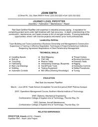 Skilled Trades Resume Examples Trade Resume Examples Zlatan Fontanacountryinn Com