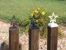 decorative fence post. Star Fence Post Cap, Decorative For 4x4 Deck And Top O