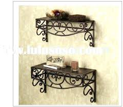 wood and metal wall shelves exotic decorative shelf elegant as bathroom mounted