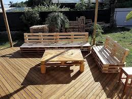 diy wooden deck furniture. diy pallets garden deck furniture wooden