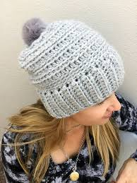 Bulky Yarn Crochet Hat Patterns Simple Slouchy Ribbed Beanie Pattern For Chunky Yarn Crochet Hat