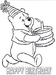 Small Picture Pooh Birthday Card Coloring Page Crafts School Pinterest