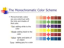 Example of a monochromatic color scheme