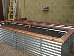 Splendiferous Image Small Elevated Garden Beds Elevated Garden Corrugated Metal Raised Garden Beds Plans