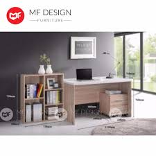 office table photos. mf design laviona study table+ bookshelf+ drawer / computer desk/office table (natural oak) (4 in 1) office table photos i