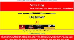 Matka Satta Number Chart Desawar 23 Paradigmatic Satta King Satta Number Chart