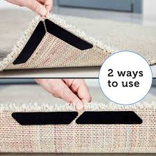 rug grippers by lealso gripper 8 pcs black anti curling rug gripper anti slip straight carpet gripper for corners and edges anti slip rug pad for rugs