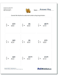 Fraction To Decimal Conversion Chart Printable Fractions To Percents Worksheet Comparing Fractions Decimals