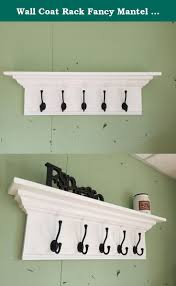 Crown Molding Coat Rack Wall Coat Rack Fancy Mantel Coat Rail 100 with Crown Molding A 87