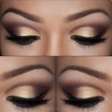 elegant soft gold smokey eye