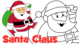 christmas santa drawings. Fine Christmas How To Draw Cute Christmas Santa Claus Step By Easy Drawing For Kids   YouTube In Drawings R
