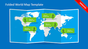 Powerpoint World Folded World Map Powerpoint Template