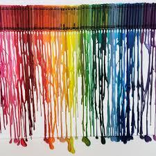 diy melted crayon art