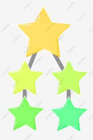 Yellow Star Chart Decoration Creative Decorative