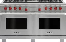wolf dual fuel range.  Fuel Wolf DF606CGLP  Front View  To Dual Fuel Range