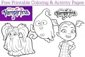 The story tells of a young vampire girl, who becomes the new kid in town when her family moves from transylvania, romania to pennsylvania to open a local bed and breakfast called the scare b&b for visiting ghouls. Disney Junior Vampirina Coloring Pages Dvd Giveaway