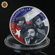 details about wr fidel castro colored 999 silver memorative coin collector holiday gifts