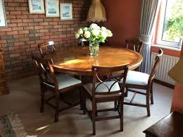 beautiful inlaid round dining table 6 chairs 5ft diameter fultons in round dining table for 6