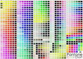 Full Color Chart Pantone Full Color Chart 24 X 36 Flat