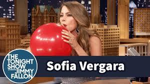 <b>Sofia Vergara</b> Chats with Jimmy While Sucking Helium