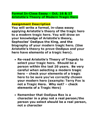 the tragic hero directions pages  formal in class essay aristotle`s theory and modern