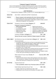 Sample Computer Technology Resume Sarahepps Com