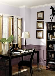 wall color for office. Layered Purple Home Office! Upper Walls Color: Dreamy Cloud - Wainscoting Mulberry Wine Ceiling \u0026 Trim Simply White Wall Color For Office