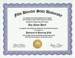 com film director film directing degree custom gag  com film director film directing degree custom gag diploma doctorate certificate funny customized joke gift novelty item toys games