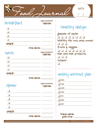 Diet Workout Journal Free Food Journal I Love This I Just Printed It And It