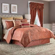 elegant peach bedding