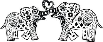 Elephant Mandala Coloring Pages Printable Easy 570403 Attachment