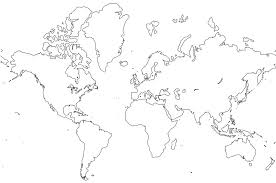 Map Of The World To Color Free Printable Printable Blank World Map