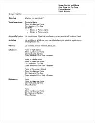 006 Simple Resume Template Free Download Ideas Templates Format