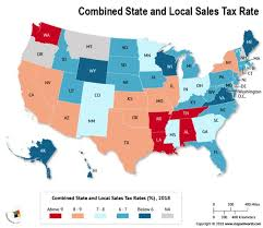 6 25 Sales Tax Chart What Is The Combined State And Local Sales Tax Rate In Each