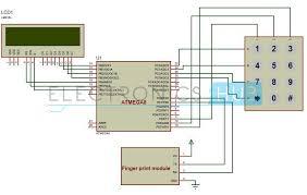 fingerprint based biometric attendance system circuit biometric attendance system circuit diagram