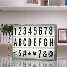 A4 Işıklı Harfli Dekoratif Led Tabela Pano Lightbox Kişiye Özel
