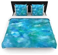 rosie brown ocean waters blue aqua cotton duvet cover queen 88