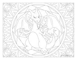 Adult Pokemon Coloring Page Charizard Windingpathsartcom