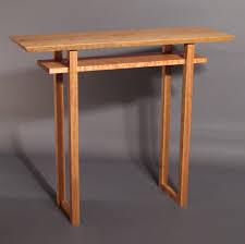 narrow side table with shelf