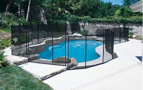Inground pool Salt Water Inground Pool Safety Fence Adcock Pool Spa Billiards Safety Fence For Inground Pools Swimming Pool Safety Fences