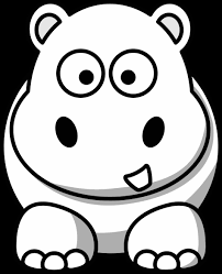 Small Picture Cute Hippo Coloring Pages Baby Hippo Animal Coloring Page For Kids