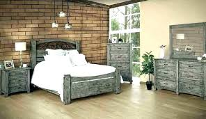 R Oak Bedroom Sets Distressed Wood Furniture Gray  Set Weathered