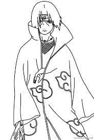 Naruto Coloring Pages Uchiha Itachi Akatsuki Coloring4free