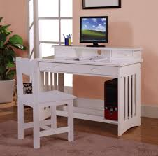 white wooden office chair. L Shape White Wooden Desk With Office Chair